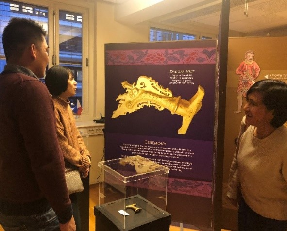 "Ambassador Jocelyn Batoon-Garcia led the ribbon-cutting ceremony to launch the  exhibition entitled ""Ginto, A Golden Heritage from our Filipino Ancestors"""