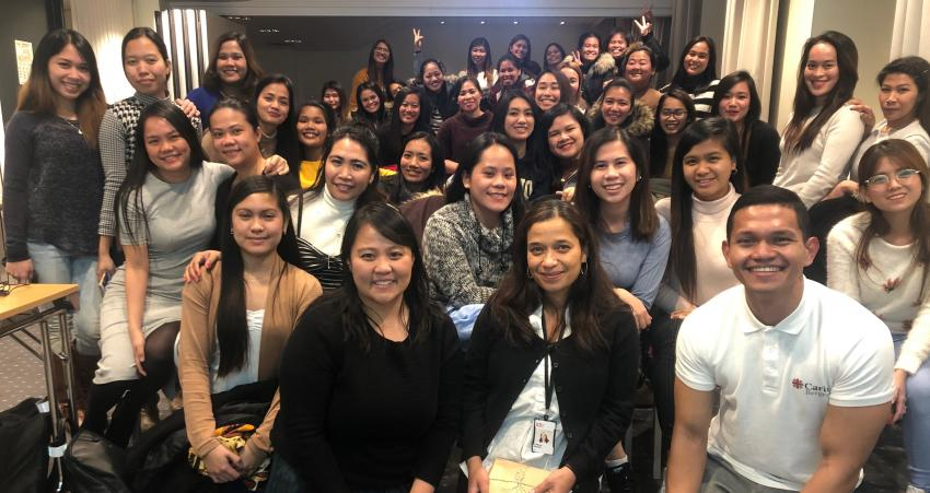 Embassy Conducts First Post-Arrival Orientation Seminar for Filipino Au Pairs in Bergen, Meets Filipino Community Members