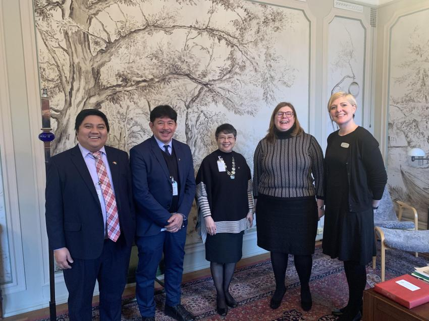 Ambassador Batoon-Garcia Calls on President of City Council of Stockholm