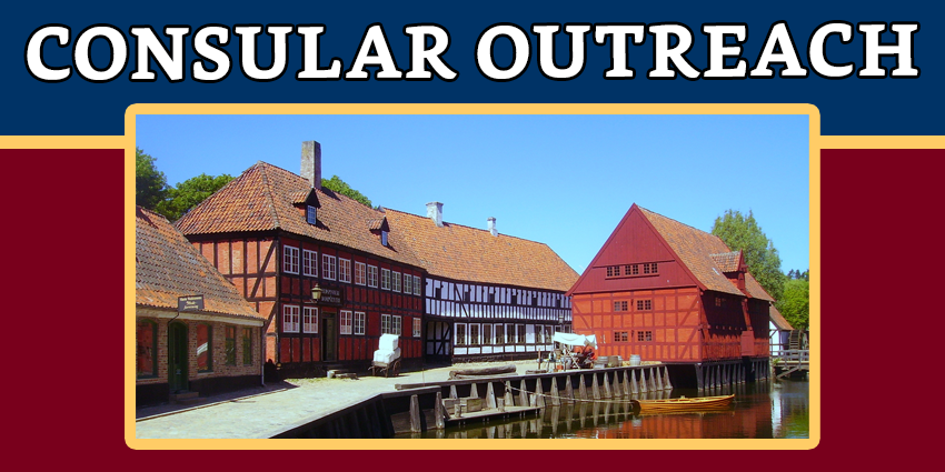 CONSULAR OUTREACH IN AARHUS, DENMARK ON 25 - 27 MAY 2018