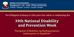 39th National Disability Prevention and Rehabilitation Week