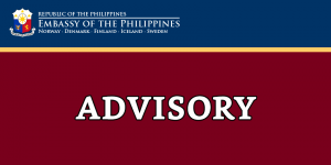 Philippine Embassy will be closed on 16 February 2018