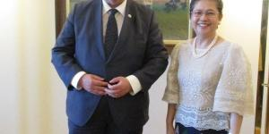 Ambassador Jocelyn Batoon-Garcia Pays a Courtesy Call on Finnish Minister for Foreign Affairs Timo Soini in Helsinki, Finland
