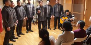 Male Ensemble Philippines Performs at the Philippine Embassy in Oslo